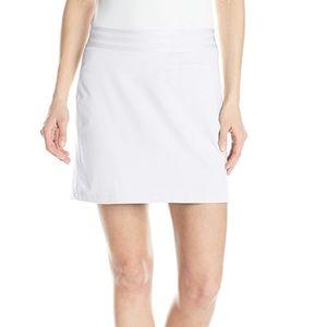 Adidas golf white rangewear active skirt skort